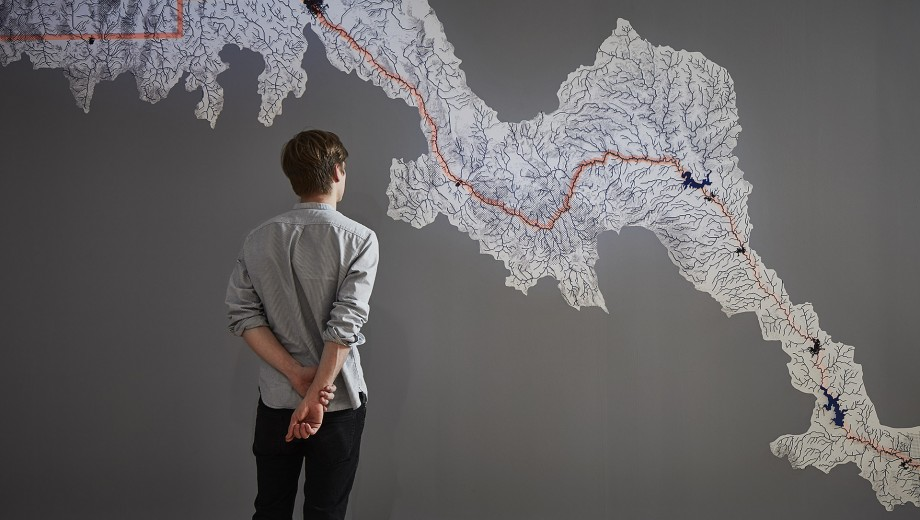 One part of the US Pavilion, MEXUS invited visitors to consider the number of watersheds, ecological zones, and other regions that cross the Mexico-US border.
