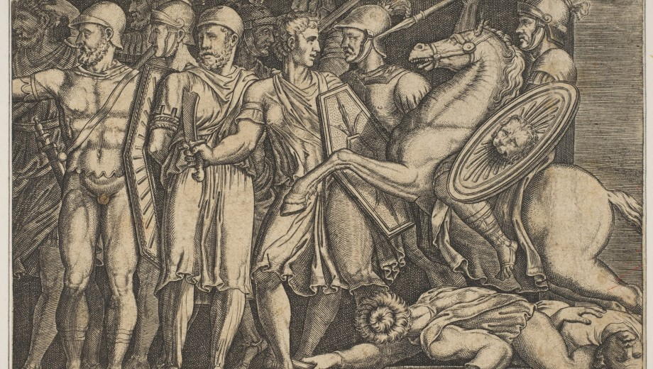 Trajan fighting the Dacians, Anonymous, Italian, 16th to Early 17th Century, Engraving