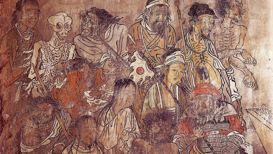 detail from a late Yuan dynasty (14th c.) mural