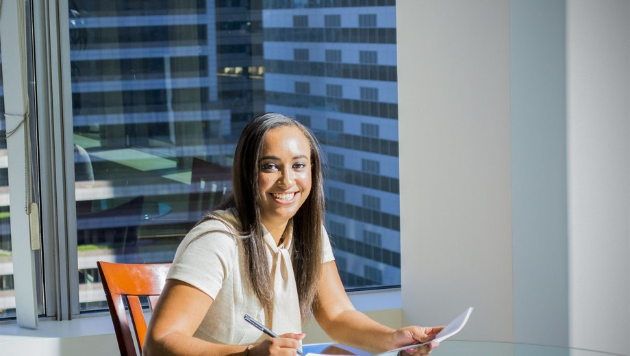 Breahna Wilson, AM'13, found a career path in wealth management