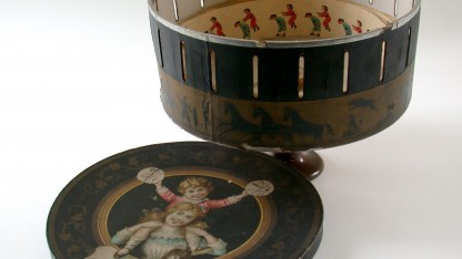 The zoetrope is one of the artifacts of nineteenth-century visual culture that Amanda Shubert will discuss in her course Realism or Illusions of the Real.