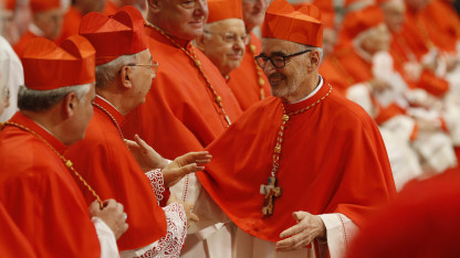 Michael Czerny joins the ranks of Catholic cardinals in a ceremony at St. Peter's Basilica in October 2019. Photo by Paul Haring