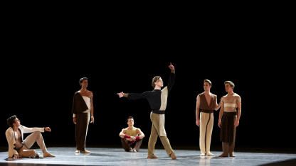 """A scene from Serenade after Plato's """"Symposium,"""" choreographed by Alexei Ratmansky."""