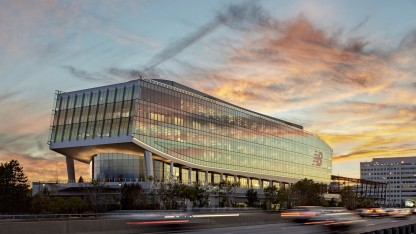 Among Manfredi's designs is the New Balance headquarters in Boston.